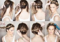 sunkissed and made up braided crown hairstyles hair Braided Hairstyle For Wedding Tutorial Inspirations