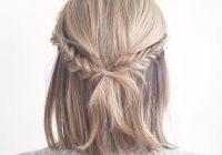 Trend 10 5 minute hairstyles for short hair medium hair prom Easy Fishtail Braid For Short Hair Inspirations