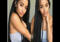 Trend 20 braided hairstyle human hair full lace wig for black women Braids With Human Hair Styles Inspirations