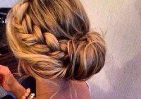 Trend chic braided bun thick hair styles hair bun tutorial Braided Hair Bun Styles Ideas