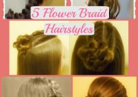 Trend flower girl hairstyles 5 braided rose hairstyles part 2 Rosette Flower Braid Hairstyle For Medium Long Hair Tutorial Ideas