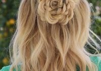 Trend jun hair styles hairstyle medium length hair styles Rosette Flower Braid Hairstyle For Medium Long Hair Tutorial Choices