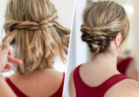 Trend this quick messy updo for short hair is so cool short hair Short Hair Styles Updos Ideas